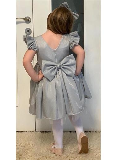 Riccotarz Kız Çocuk Parıldayan Gümüş Elbise Gümüş
